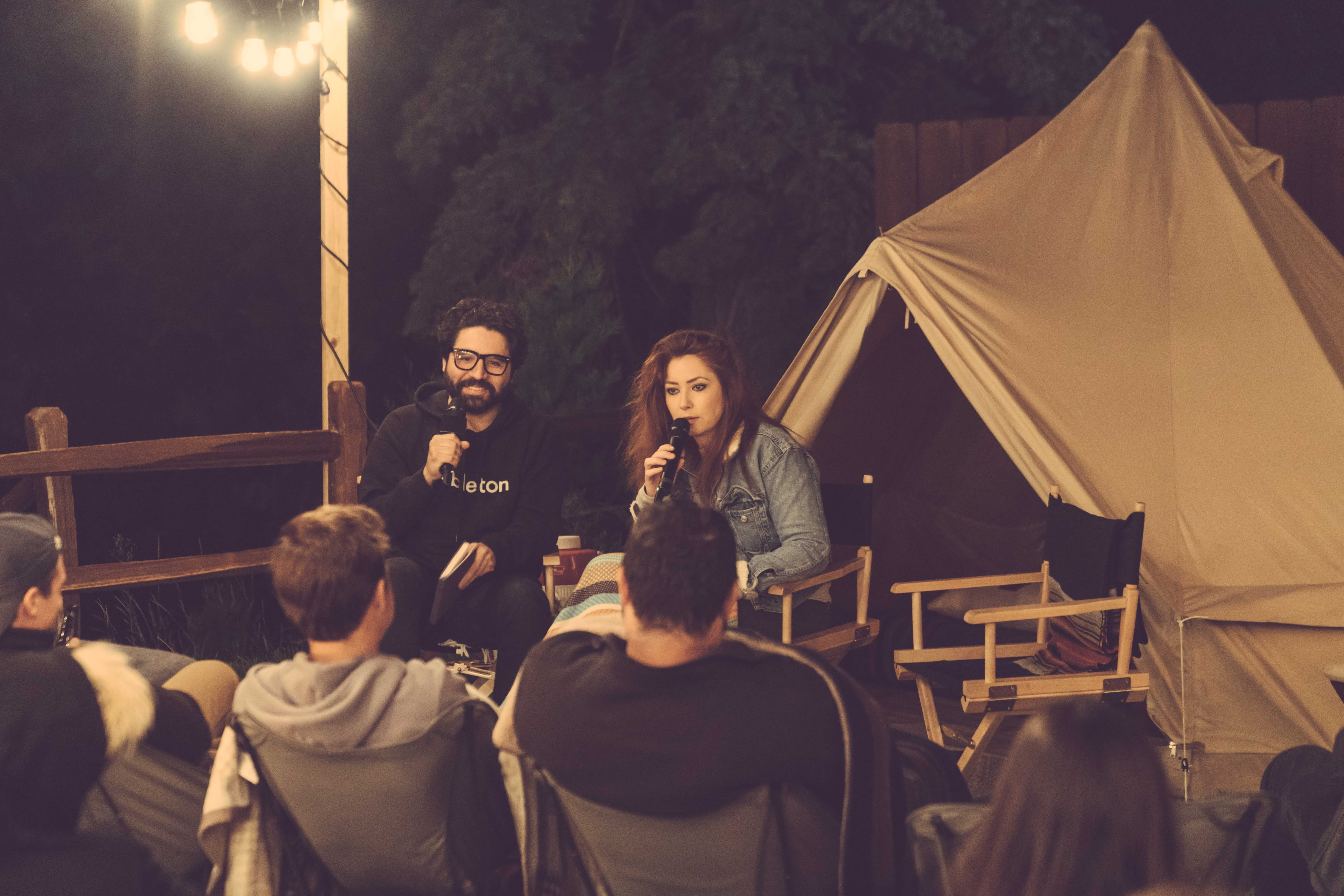 Being interviewed by Pablo at Epicurrence